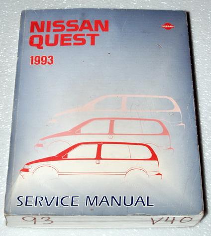 1993 NISSAN QUEST XE GXE MINI-VAN OEM Factory Dealer Shop