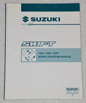 1999 2000 2001 SUZUKI SWIFT Factory Electrical Wiring