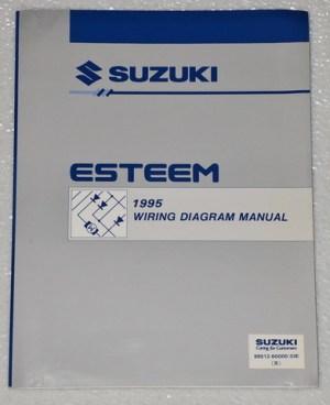 1995 SUZUKI ESTEEM Factory Electrical Wiring Diagrams Shop