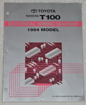 1994 TOYOTA T100 PICKUP TRUCK Electrical Wiring Diagrams
