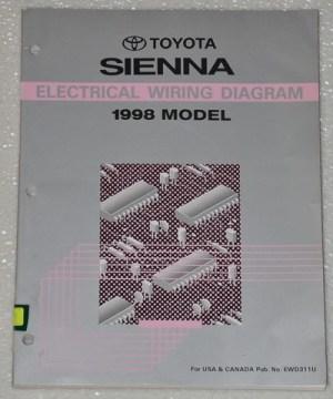 1998 TOYOTA SIENNA Electrical Wiring Diagrams Shop Manual