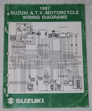1987 SUZUKI Motorcycle and ATV Electrical Wiring Diagrams