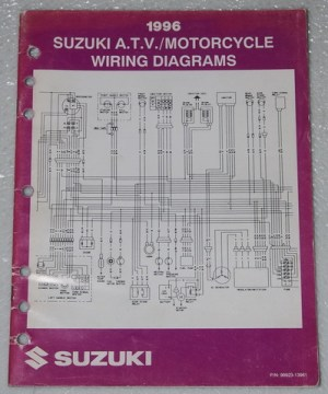 1996 SUZUKI Motorcycle ATV Wiring Diagrams Manual