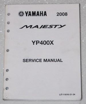 2008 Yamaha Majesty YP400 Scooter Service Manual Factory