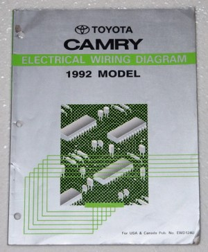 1992 TOYOTA CAMRY Electrical Wiring Diagrams Shop Manual