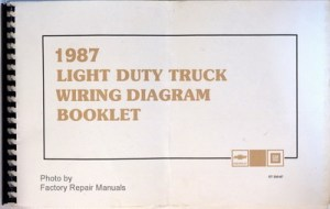 1987 Chevy 10 20 30 Truck Suburban Blazer G Van Wiring Diagrams  Factory Repair Manuals