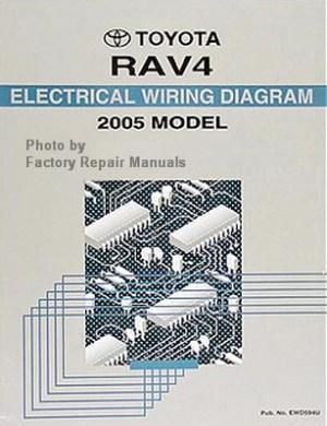 2005 Toyota RAV4 Electrical Wiring Diagrams Original  Factory Repair Manuals