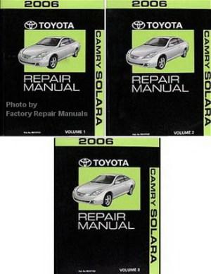 2006 Toyota Camry Solara Factory Service Manual Set