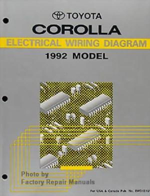 1992 Toyota Corolla Electrical Wiring Diagrams  Original