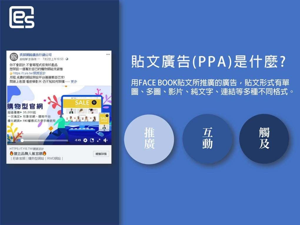 FB廣告投放及網頁設計服務