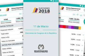 Elecciones Colombia 2018: la app que te permite conocer en tiempo real los resultados de las elecciones