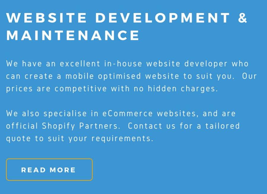 Website Development & Maintenance