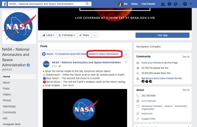 Facebook collection - new - to organize saved posts 3