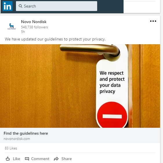 Novo Nordisk -privacy - LinkedIn