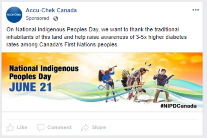 Accucheck - FB ad - indigenous day
