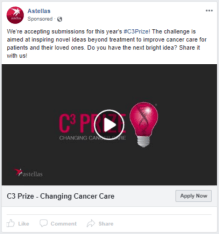 Astellas - FB - Changing Cancer Care Prize - FB ad 5