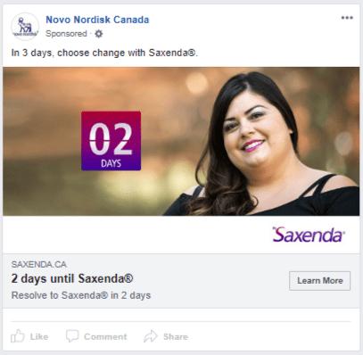 Saxenda - new year countdown - 2 days v2 - error in ad