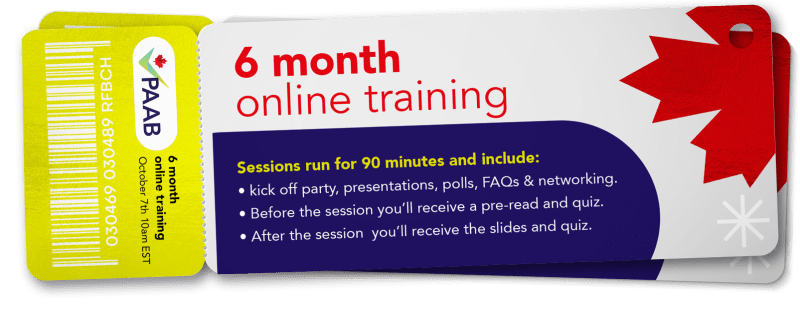PAAB online training ticket