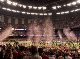 Super Bowl XLVII Confetti Foto: Austin Kirk - Flickr