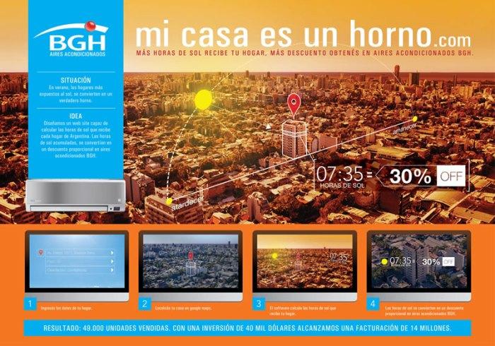 ORO Mi casa es un horno, de Del Campo Saatchi & Saatchi para BGH airesacondicionados, de BGH Argentina. Argentina