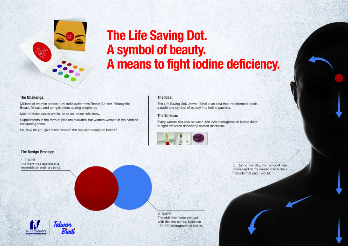 "PRODUCT DESIGN LION ""Life Saving Dot"" para Talwar Bindi por Grey Group, Singapur."