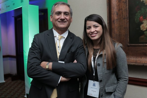 Ronald Spina (TV Cable) y Judy Marcano (Fox Networks Group Latin America)