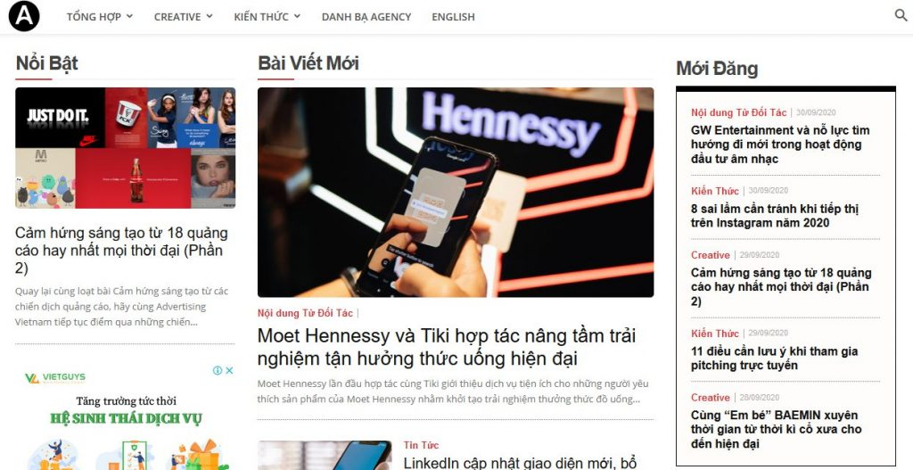 Advertising Vietnam - Website về marketing hay nhất tại Việt Nam