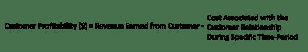 Customer profitability formula
