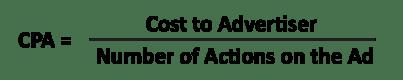 cost per action formula