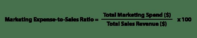 marketing expense to sales ratio formula