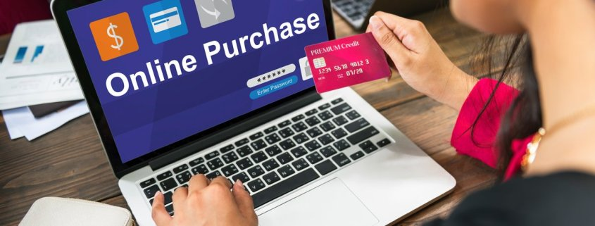 image of online shopper for website credibility article