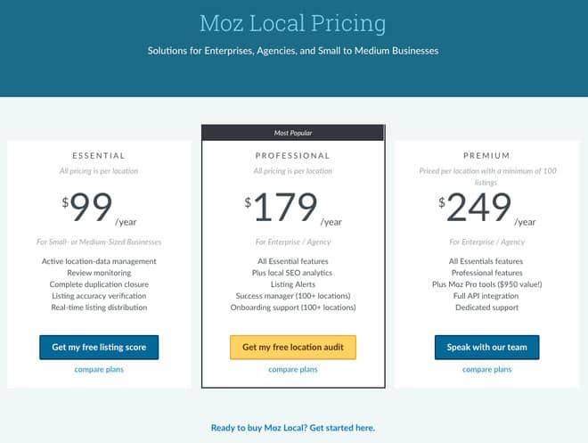 what is moz local