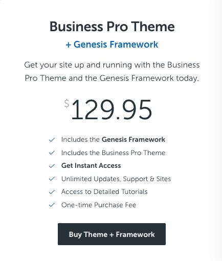 business pro theme demo