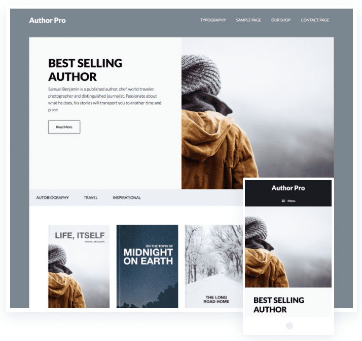 wordpress themes for authors