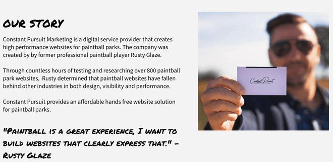 paintball website design