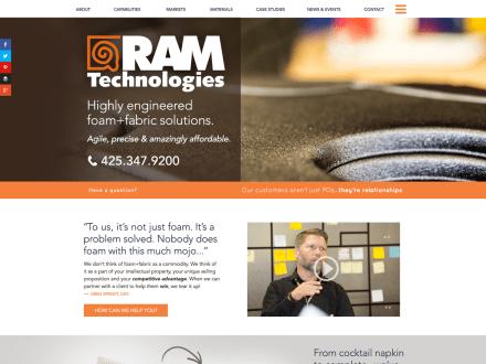 manufacturing website screenshot