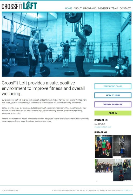 CrossFit LOFT website