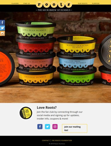 screenshot Roots Hummus