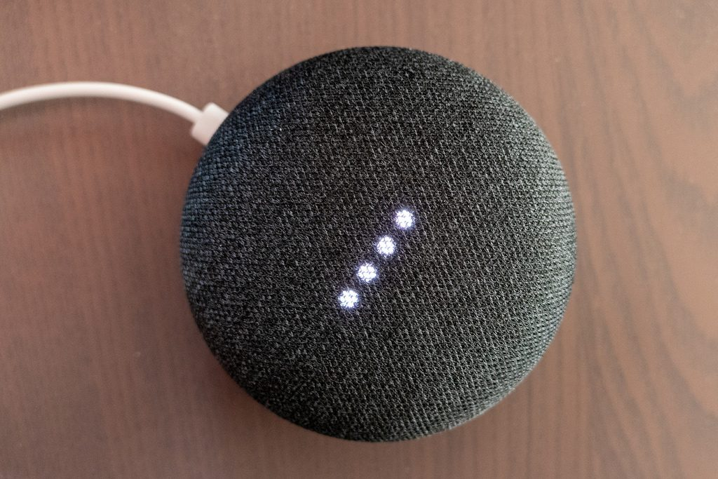 Google Home Mini by Mack Male via Flickr CC