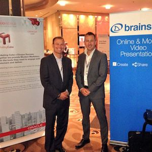 "Adrian Jones (Left) and Ben O'Leary (Right) spoke about video and how it can support the selling process. Brainshark and Oracle Marketing Cloud work together to provide marketers with specific and detailed reporting about who has watch a video and for how long. Great digital body language data. By segmenting this data for future campaigns, you really are marketing to the ""one"""