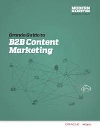 Eloqua B2B Content Marketing Grande Guide