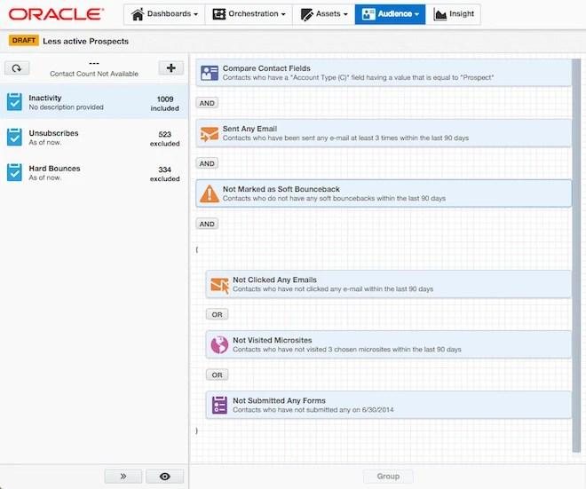 Oracle Marketing Cloud Eloqua Segments
