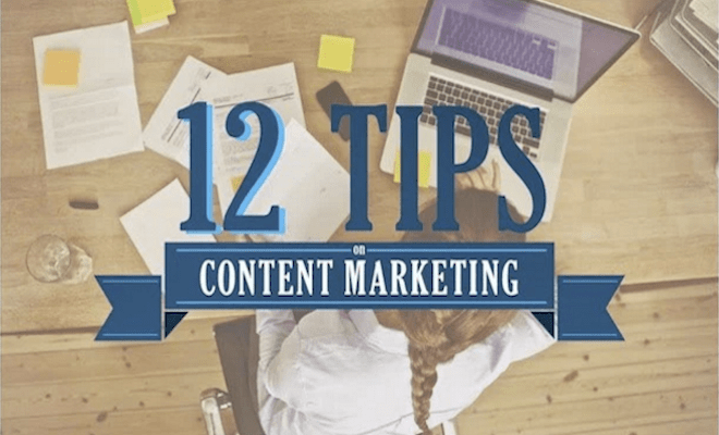 4 nuggets 12 tips to help with content marketing 660x400
