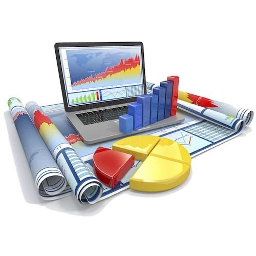 Analytics Graphs Reports Laptop 500x500pxk