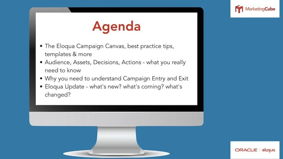 Eloqua User Group Agenda - Campaign Canvas 101
