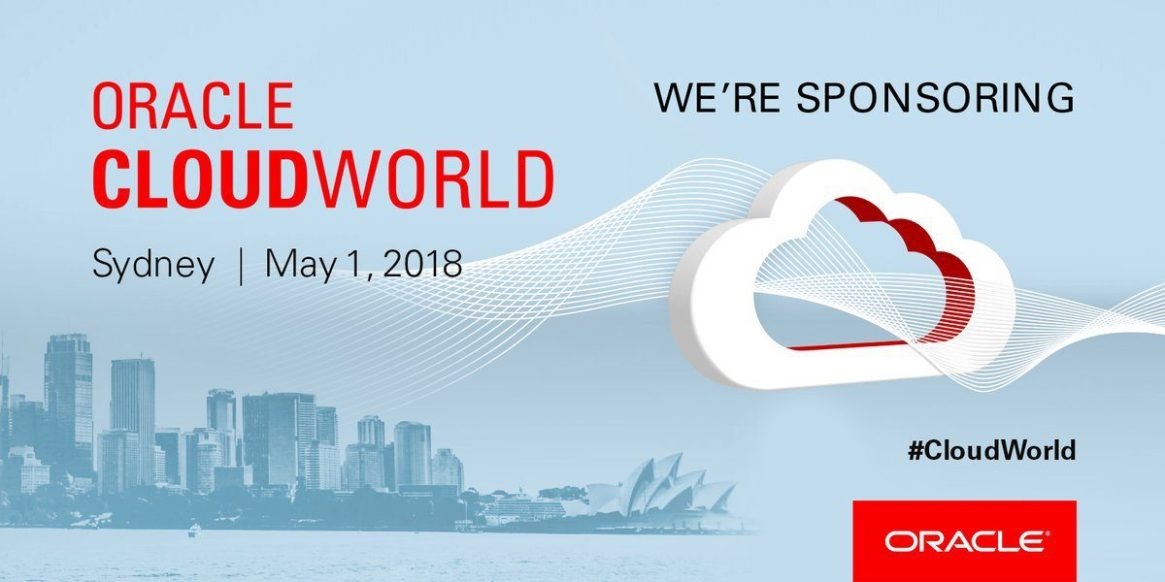 We are sponsoring Oracle Cloud World 2018