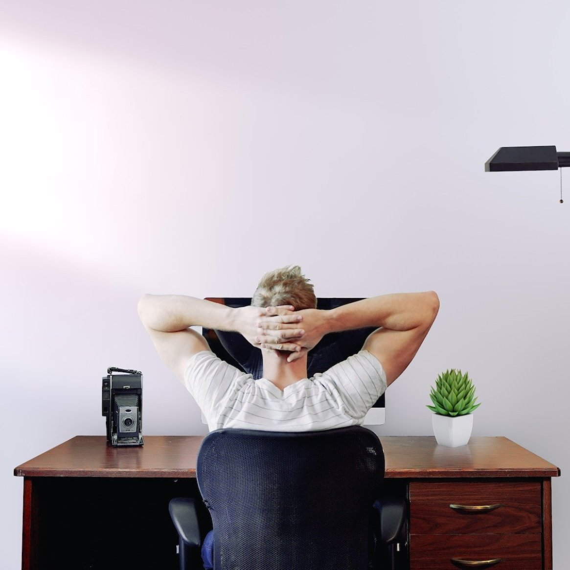 SUPPORT Square Male at desk relaxed 1200x1200pxl