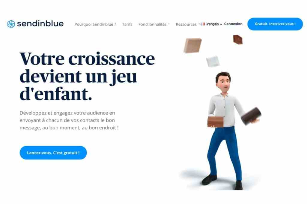 Sendinblue autorépondeur, CRM, marketing automation