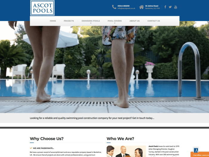 ascot-pools-website