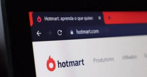 Site Hotmart carregado na barra de endereços do navegador